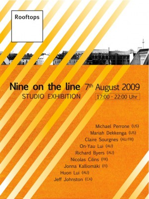 Rooftops Studio exhibition 7th August front